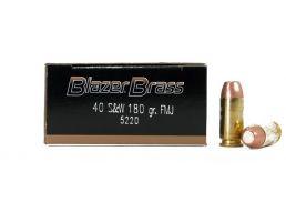 CCI Blazer Brass 40 S&W 180gr FMJ Ammunition 50rds