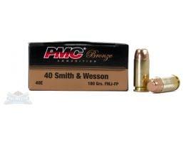 PMC Bronze 40 S&W 180gr FMJFP Ammunition 50rds - 40E