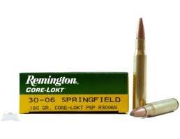 Remington Core-Lokt 180 gr PSP 30-06 Springfield Ammunition, 20 Rounds