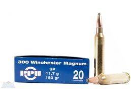 PRVI Partizan 300 Win Mag 180 SP Ammunition 20rds - PP3.6