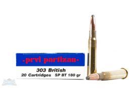 PRVI Partizan 303 British 180gr SP Ammunition 20rds - PP3.9