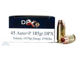 Cor-Bon 45ACP +P 185gr DPX Ammunition - DPX45185/20