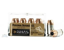 Federal 45 GAP 185gr Hydra-Shok Ammunition 20rd- - -PD45G1