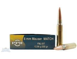 PRVI Partizan 8mm Mauser 200gr Match FMJBT Ammunition 20rds - PP8.13
