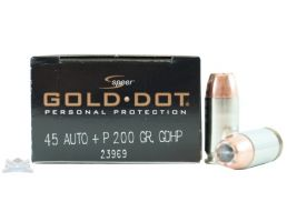 Speer 45 Auto/ACP+P 200gr Gold Dot Ammunition 20rds - 23969