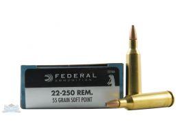 Federal 22-250 55gr SP Power-Shok Ammunition 20rds -22250A