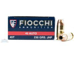 Fiocchi 45 230gr JHP Ammunition 50rds - 45T