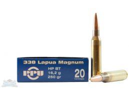 PRVI Partizan 338 Lapua Magnum 250gr HPBT Ammunition 20rds - PP3.39