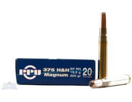 PRVI Partizan 375 H&H Magnum SPRN Ammunition 20rds - PP3.72