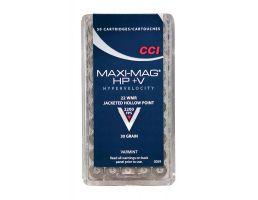 CCI .22 WMR 30gr TNT JHP Maxi-Mag Ammunition 50rds - 0063