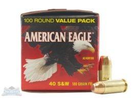 American Eagle 40 S&W 180gr FMJ AMmunition 100rds - AE40R100