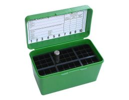 MTM Case-Gard Deluxe Flip-Top 7mm 50 Rounds Ammo Box, Green - H50-R-MAG-10