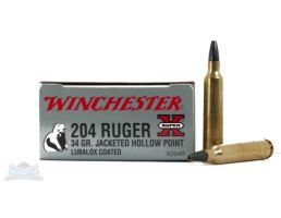 Winchester 204 Ruger 34gr JHP Super-x Ammunition - X204R