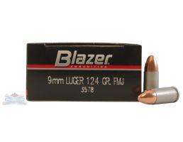 CCI Blazer 9mm 124gr FMJ Aluminum Case Ammunition 50rds - 3578