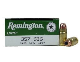 Remington UMC 357 Sig 125gr JHP Pistol Ammunition 50rds - L357S2