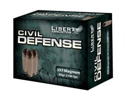 Liberty 357 Magnum 50gr HP Civil Defense Ammunition 20rds - LA-CD-357-030