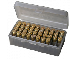 MTM 50rd Flip-Top Ammo Box - 9mm, 380 ACP - - 50-9-41