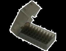 MTM 50rd Slip Top Pistol Box .38/357 - Smoke - E50-38-41