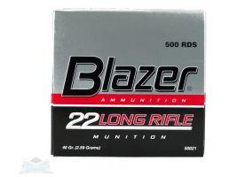 cci blazer .22 long rifle 40 gr solid ammo box