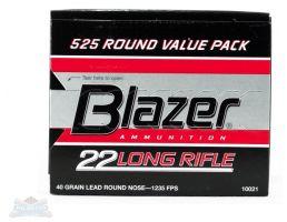 CCI Blazer .22 Long Rifle 40gr LRN Ammunition 525rds - 10021