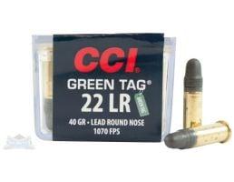 CCI .22 Long Rifle 40gr LRN Green Tag Ammunition 100rds - 0033