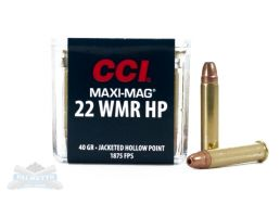 CCI .22 Winchester Magnum Rimfire 40 Grain Jacketed Hollow Point Ammunition 50rds - 0024