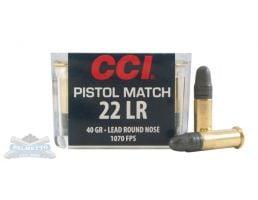 CCI .22 Long Rifle 40gr LRN Pistol Match Ammunition 50rds - 0051