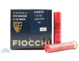 """Fiocchi 410ga 2.5"""" 1/2oz #8 Game Load Shotshell Ammunition 25rds - 410GT8"""