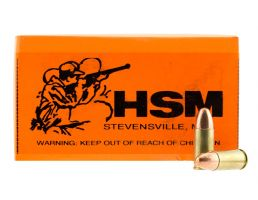 HSM 9mm 124gr PRN Ammunition Re-Manufactured 50rd box - HSM-9mm-4r