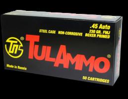 TulAmmo .45 ACP 230 gr FMJ 50 Rounds Ammunition - TA452300