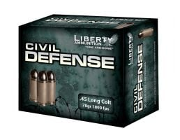 Liberty 45 Colt 78gr HP Civil Defense Ammunition 20rds - LA-CD-45-031