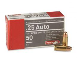 Aguila .25 ACP Auto 50gr FMJ 50 Rounds Ammunition