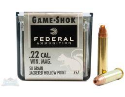 Federal 22 WMR 50gr JHP Game-Shok Ammunition 50rds - 757