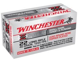 Winchester 22 Long Rifle 40gr CPRN Ammunition 500rds - X22LR