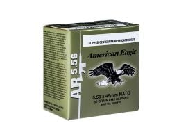American Eagle 5.56 62gr M855 Ammunition, 30 Rounds on Stripper Clips - XM855AF30
