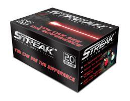 Ammo Inc STREAK .380 Auto/ACP 100gr TMJ Tracer Practice Ammo, 20 Rounds - 380100TMC-STRK-RED