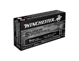 Winchester 9mm 147gr Super Suppressed Handgun Ammunition, 50 Rounds - SUP9