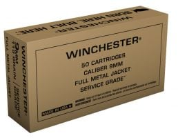 Winchester Service Grade 9mm 115gr FMJ 50 Rounds Aummunition - SG9W