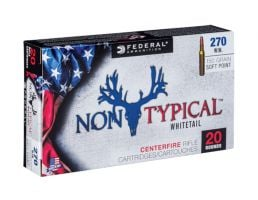 Federal 270 Win 150gr Soft Point Non-Typical Whitetail Rifle Ammunition, 20 Rounds - 270DT150