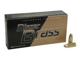 CCI Blazer Brass, 9MM, 115gr, FMJ, 100 Round Bulk Pack - 51991BB