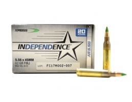 Federal Independence 5.56x45mm 62gr FMJ Ammunition, 20 Rounds