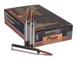 Sig Sauer .300 Win Mag 165 Grain Elite Copper Hunting Rifle Ammunition, 20 Rounds - E3WMH1-20