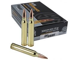 Sig Sauer .300 WSM 190 Grain OTM Match Grade Rifle Ammunition, 20 Rounds - E3WMM1-20