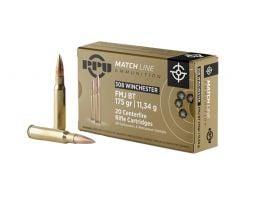 Prvi Partizan .308 Winchester Match FMJBT 175 gr 20 Rounds Ammunition - PPM3083