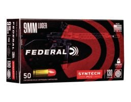 American Eagle Syntech Pistol Caliber Carbine 9mm 130 gr Syntec Jacket FN 50 Rounds Ammunition - AE9SJPC1