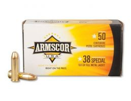 Armscor 38 Special 158 gr FMJ 50 Rounds Ammunition - FAC38-17N