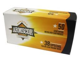 Armscor 38 Special 158 gr RNFP 50 Rounds Ammunition - FAC38-5N