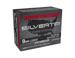 Winchester 9MM 115gr Silver Tip HP, 20rd Ammunition - W9MMST