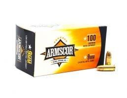 Armscor 9mm 124gr FMJ Ammunition 100 Rounds - 50445