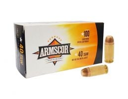Armscor 40 S&W 180GR FMJ 100 Rounds - 50316